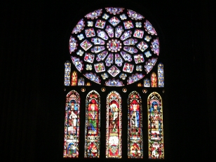 Stained glass from inside a Cathedral